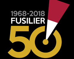 The Royal Regiment of Fusiliers 50 logo