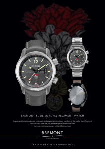 The Fusilier 50 Bremont watch - hi res